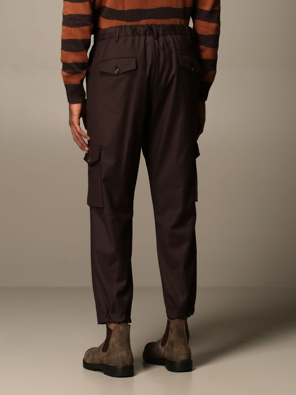 Trousers Alessandro Dell'acqua: Trousers men Alessandro Dell'acqua brown 2