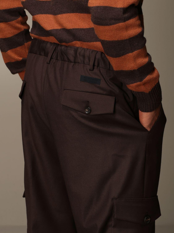 Trousers Alessandro Dell'acqua: Trousers men Alessandro Dell'acqua brown 3