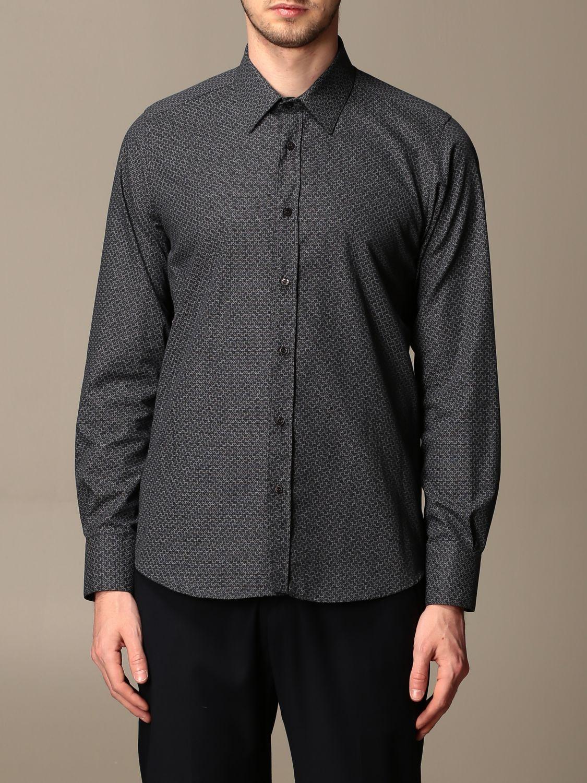 Shirt Alessandro Dell'acqua: Shirt men Alessandro Dell'acqua black 1
