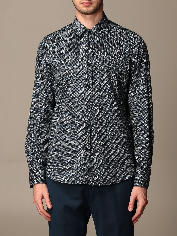 Camicia Alessandro Dell'acqua: Camicia Alessandro Dell'acqua con collo italiano blue 1