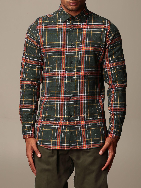 Shirt Alessandro Dell'acqua: Shirt men Alessandro Dell'acqua green 1