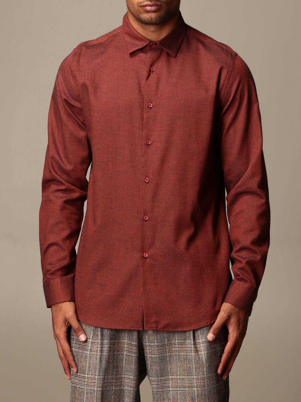 Shirt Alessandro Dell'acqua: Alessandro Dell'acqua shirt in cotton and wool orange 1