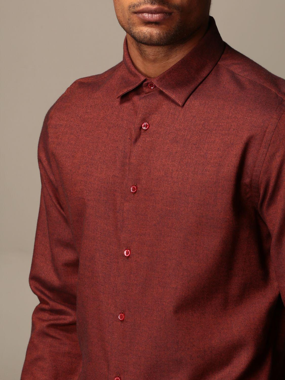 Shirt Alessandro Dell'acqua: Alessandro Dell'acqua shirt in cotton and wool orange 3