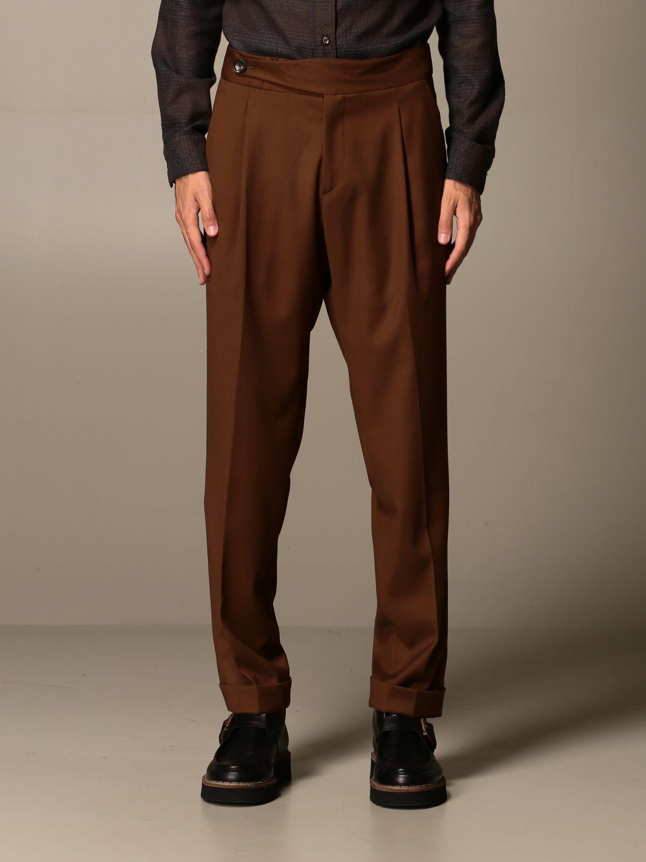 Trousers Alessandro Dell'acqua: Shirt men Alessandro Dell'acqua beige 1