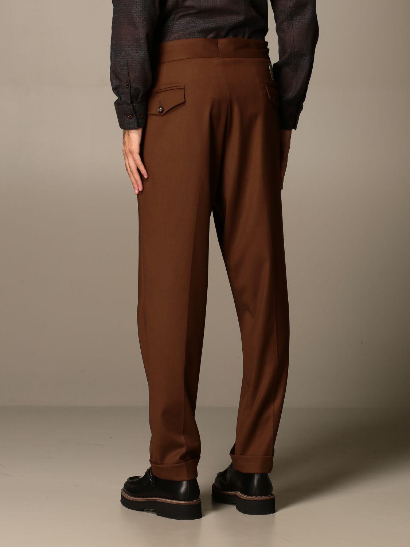 Trousers Alessandro Dell'acqua: Shirt men Alessandro Dell'acqua beige 2