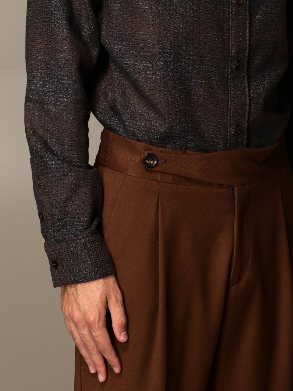 Trousers Alessandro Dell'acqua: Shirt men Alessandro Dell'acqua beige 3