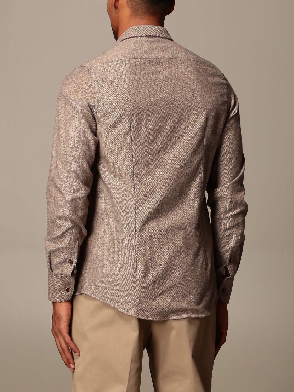 Shirt Alessandro Dell'acqua: Shirt men Alessandro Dell'acqua brown 1
