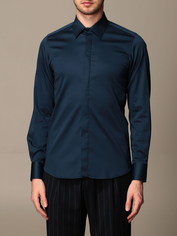 Shirt Alessandro Dell'acqua: Alessandro Dell'acqua cotton shirt blue 1