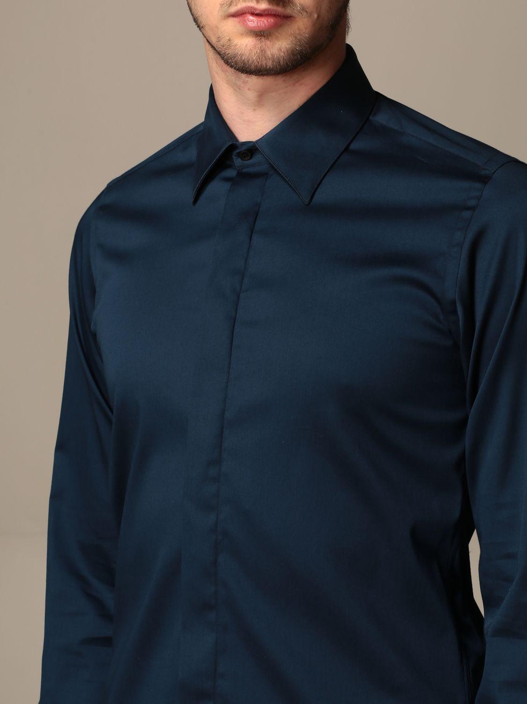 Shirt Alessandro Dell'acqua: Alessandro Dell'acqua cotton shirt blue 3