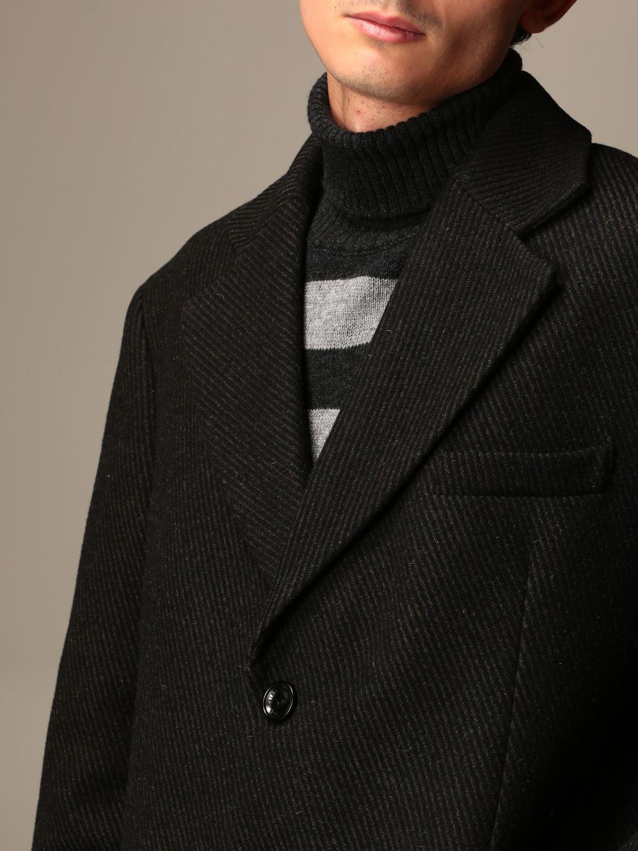 Cappotto Alessandro Dell'acqua: Cappotto Alessandro Dell'acqua a monopetto verde 3