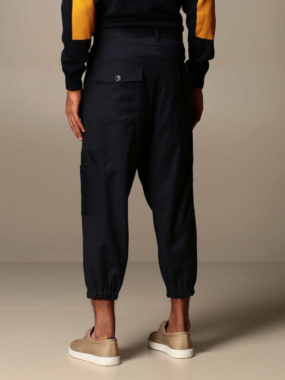 Trousers Alessandro Dell'acqua: Trousers men Alessandro Dell'acqua blue 2
