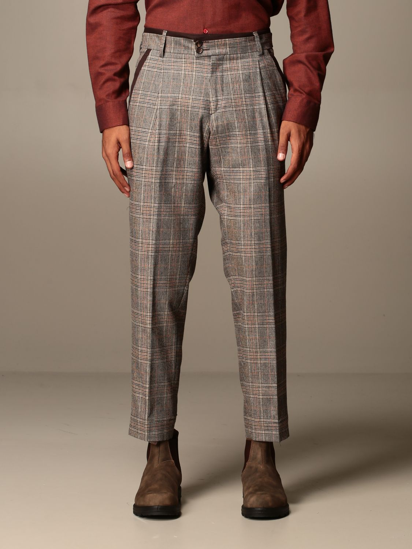 Trousers Alessandro Dell'acqua: Trousers men Alessandro Dell'acqua dove grey 1