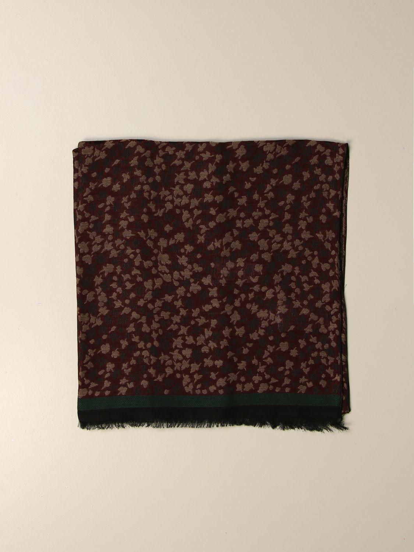 Scarf Alessandro Dell'acqua: Alessandro Dell'acqua fantasy scarf burgundy 1