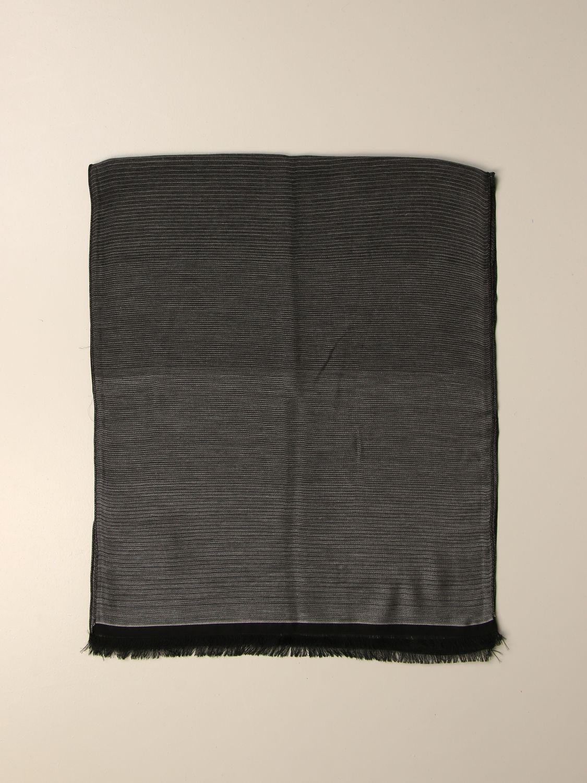 Scarf Alessandro Dell'acqua: Alessandro Dell'acqua gradient scarf grey 1