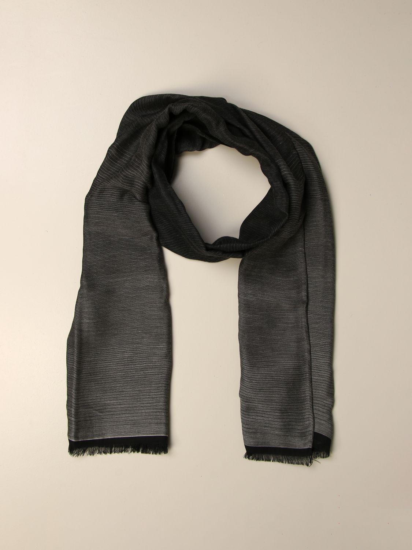 Scarf Alessandro Dell'acqua: Alessandro Dell'acqua gradient scarf grey 2