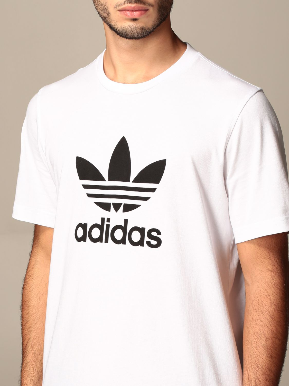 Футболка Adidas Originals: Футболка Мужское Adidas Originals белый 4