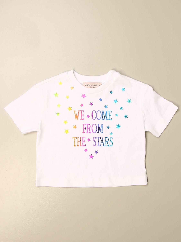 Camisetas Alberta Ferretti Junior: Camisetas niños Alberta Ferretti Junior blanco 1