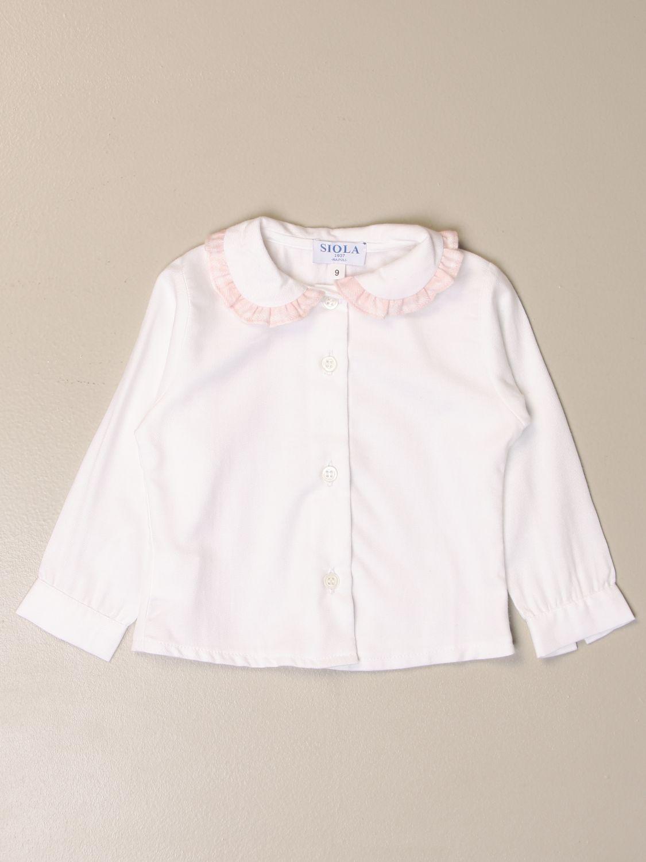 Camisa Siola: Camisa niños Siola blanco 1