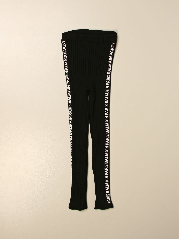 Pantalón Balmain: Pantalón niños Balmain negro 1