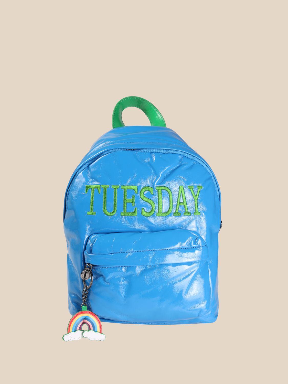 Duffel Bag Alberta Ferretti Junior: Alberta Ferretti Junior backpack with day of the week turquoise 1