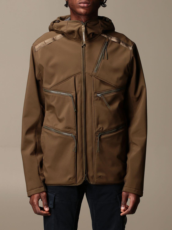 Jacket C.p. Company: Jacket C.p. Company in nylon with hood green 1