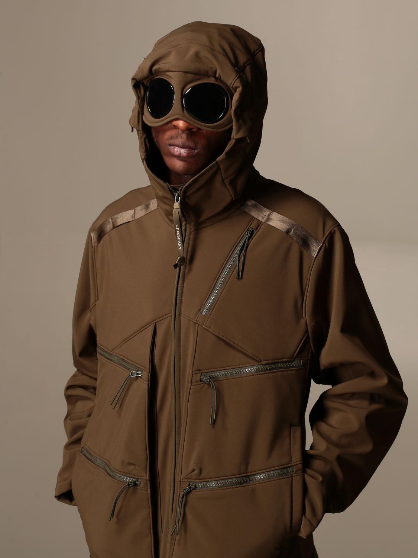 Jacket C.p. Company: Jacket C.p. Company in nylon with hood green 3