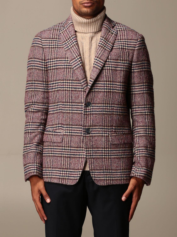 Blazer Havana & Co.: Giacca a monopetto Havana & Co. in misto lana check bordeaux 1