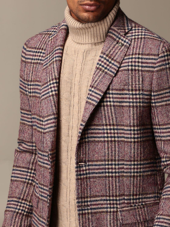 Blazer Havana & Co.: Giacca a monopetto Havana & Co. in misto lana check bordeaux 4