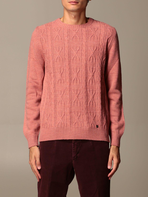 Maglia Havana & Co.: Maglia a girocollo Havana & Co. in misto lana rosa 1