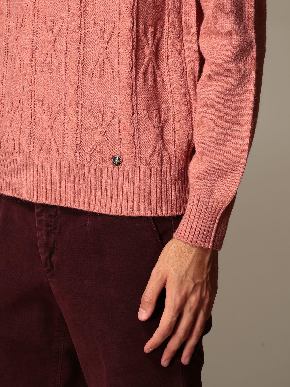 Maglia Havana & Co.: Maglia a girocollo Havana & Co. in misto lana rosa 3