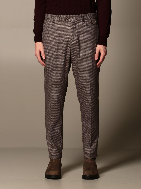 Pantalone Havana & Co.: Pantalone Havana & Co. a micro fantasia marrone 1