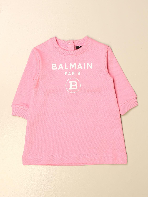 Pelele Balmain: Vestido niños Balmain rosa 1