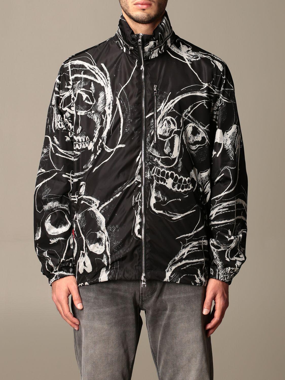 Jacket Alexander Mcqueen: Alexander McQueen jacket with all over skulls black 1