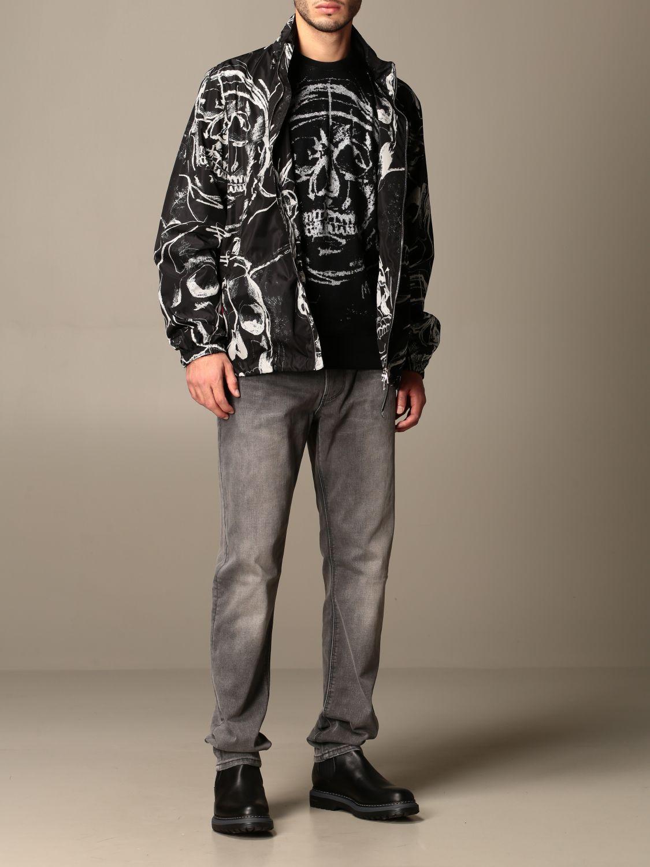 Jacket Alexander Mcqueen: Alexander McQueen jacket with all over skulls black 2