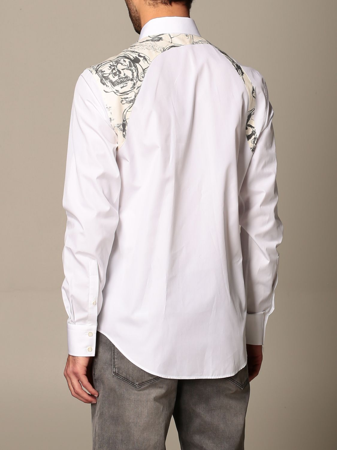 Shirt Alexander Mcqueen: Alexander McQueen shirt with skull print buckle white 3