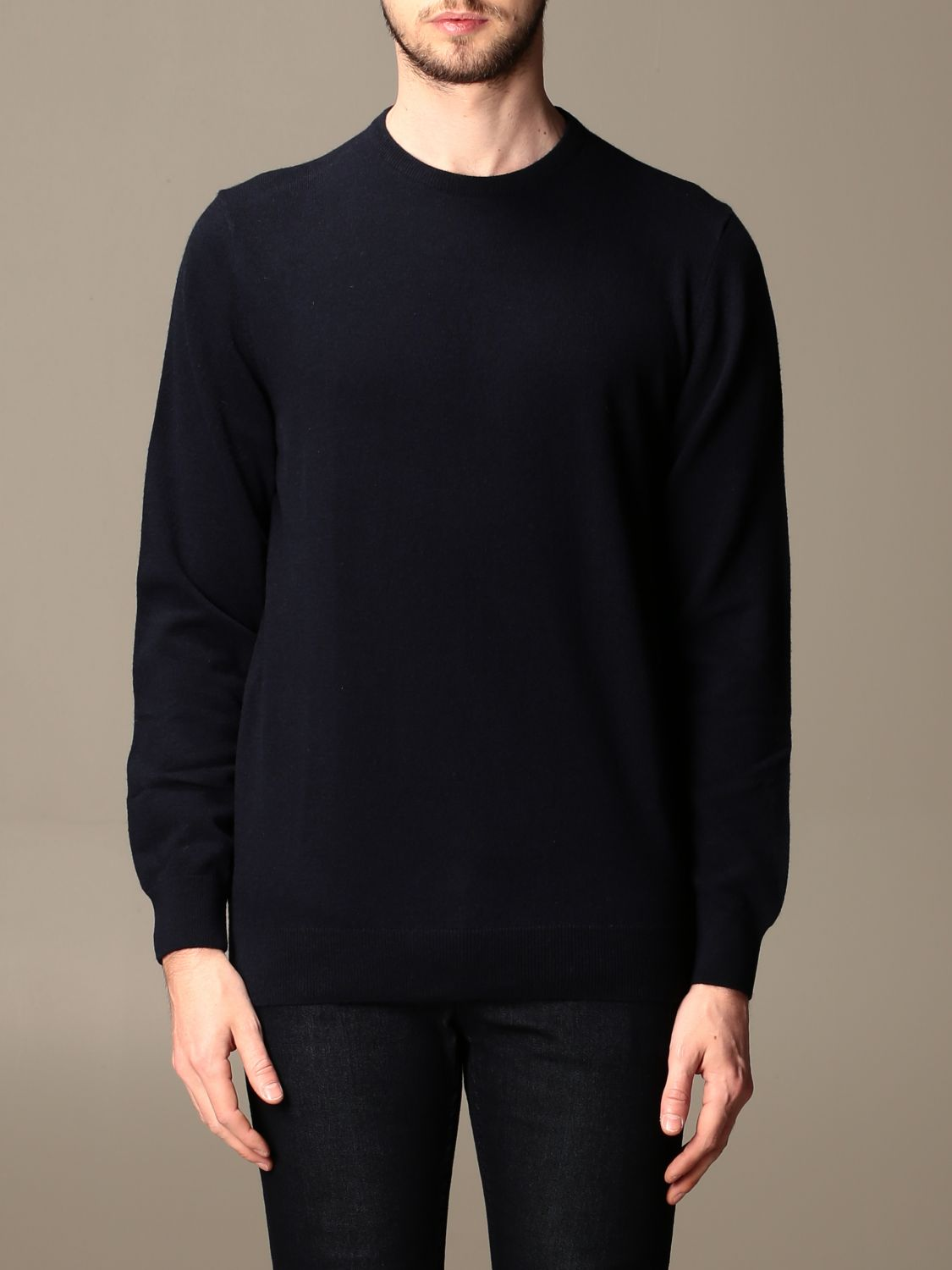 Sweater Barbour: Barbour crewneck sweater with tartan patches blue 1