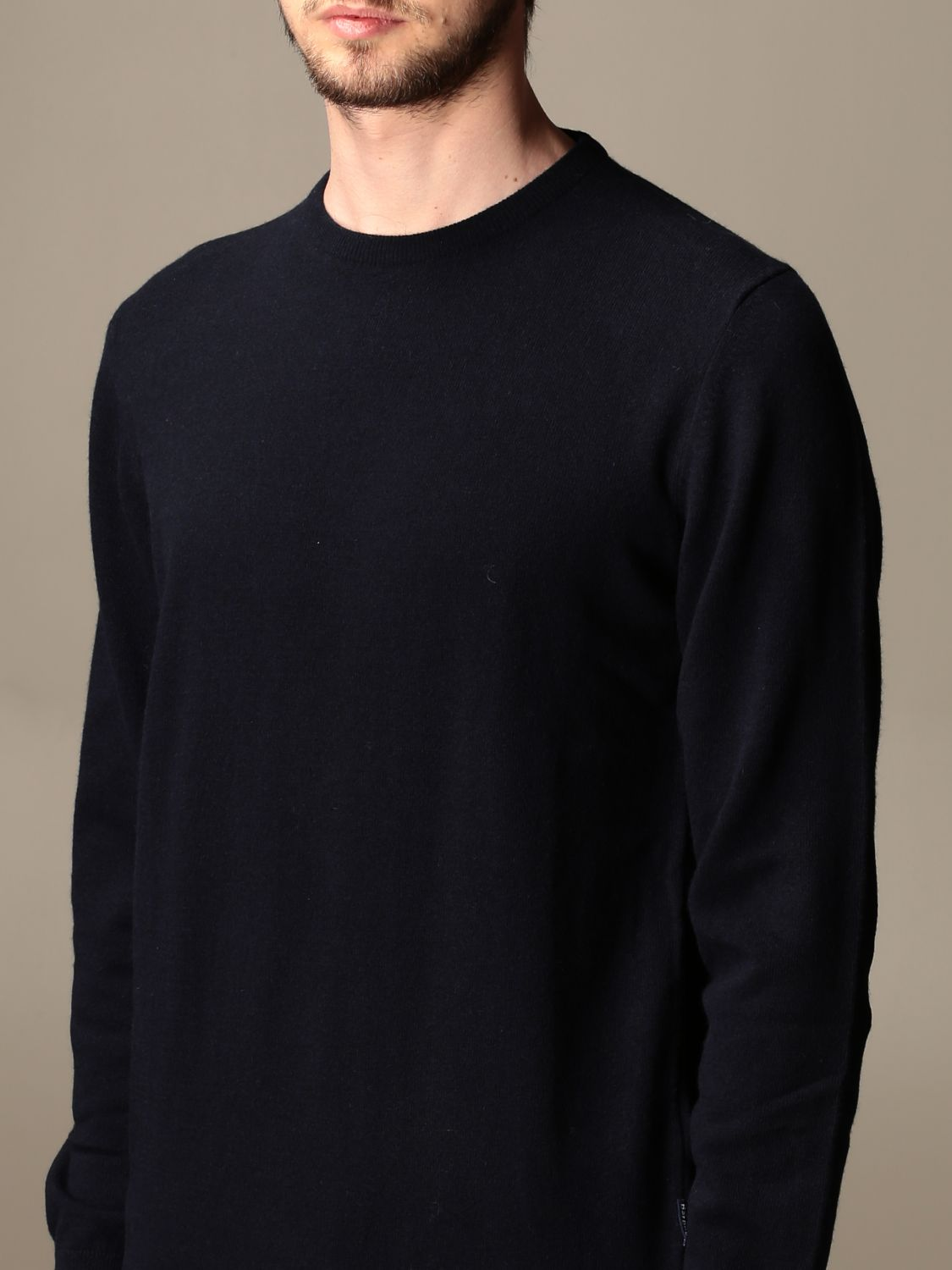 Sweater Barbour: Barbour crewneck sweater with tartan patches blue 3