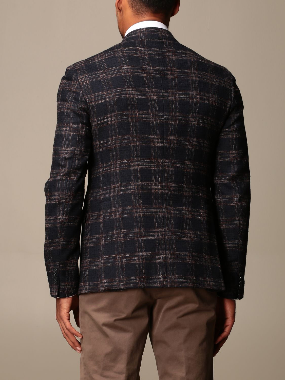 Giacca Brian Dales: Giacca a monopetto Brian Dales in cotone e lana tartan blue 2