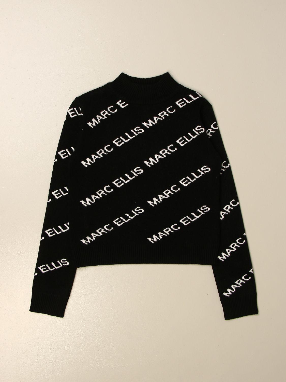 Maglia Marc Ellis: Maglia a girocollo Marc Ellis con logo all over nero 1