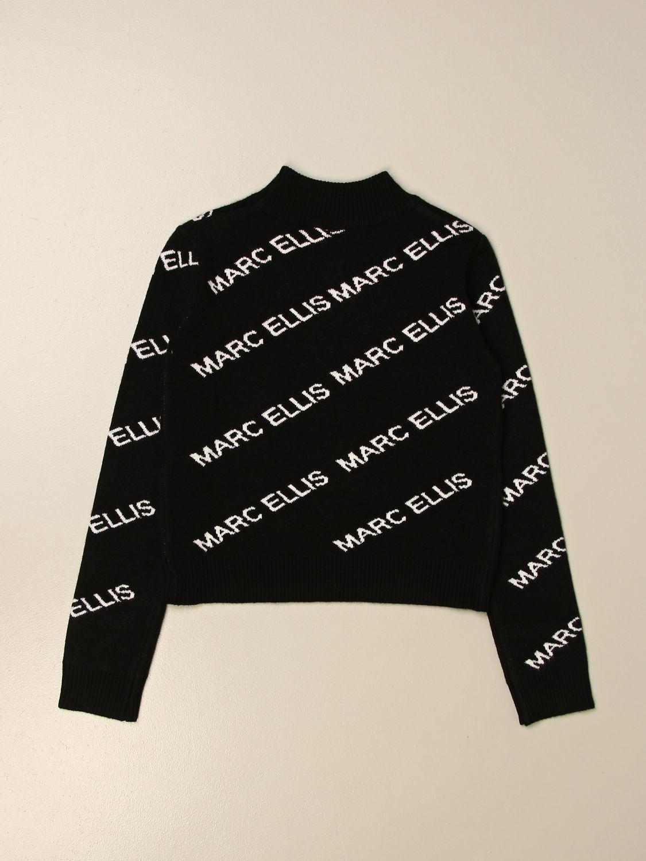 Maglia Marc Ellis: Maglia a girocollo Marc Ellis con logo all over nero 2