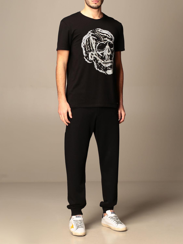 T-shirt Alexander Mcqueen: T-shirt Alexander McQueen in cotone con teschio nero 2
