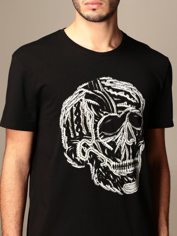 T-shirt Alexander Mcqueen: T-shirt Alexander McQueen in cotone con teschio nero 5