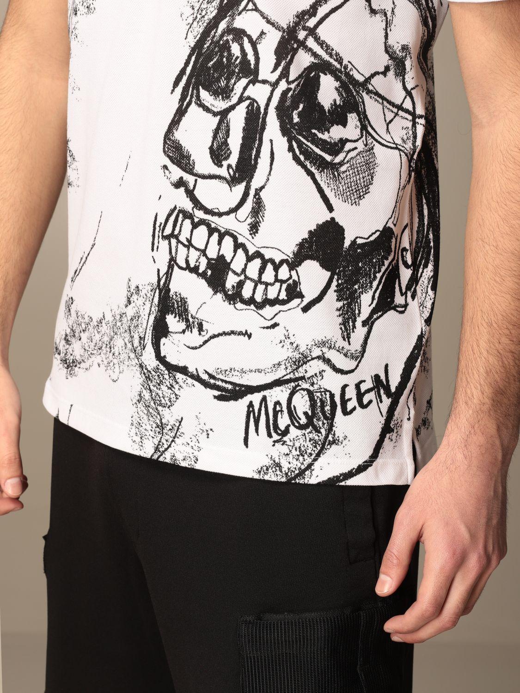 T-shirt Alexander Mcqueen: T-shirt men Alexander Mcqueen white 5