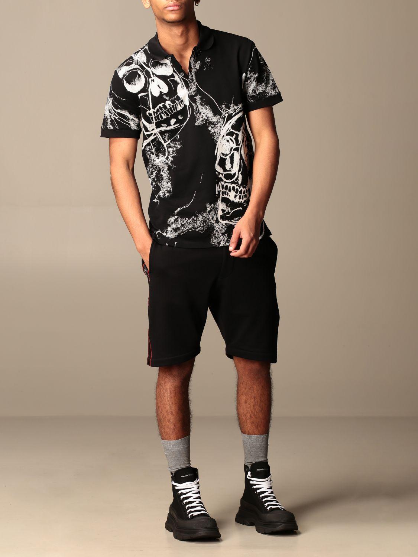 T-shirt Alexander Mcqueen: Camicia Alexander McQueen con teschi all over nero 2