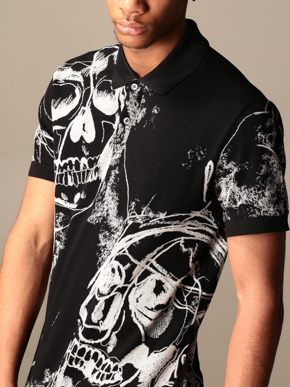 T-shirt Alexander Mcqueen: Camicia Alexander McQueen con teschi all over nero 4