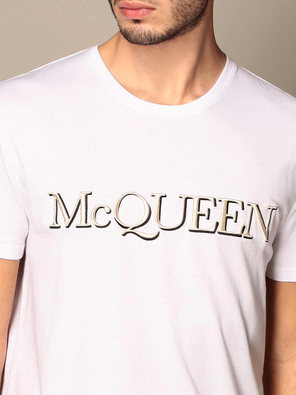 T-shirt Alexander Mcqueen: T-shirt homme Alexander Mcqueen blanc 5