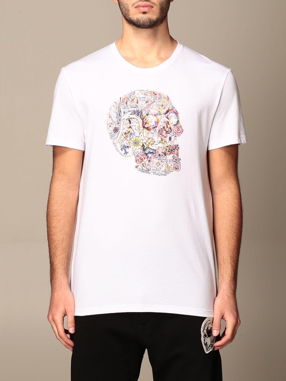 T-shirt Alexander Mcqueen: Alexander Mcqueen cotton t-shirt with skull white 1
