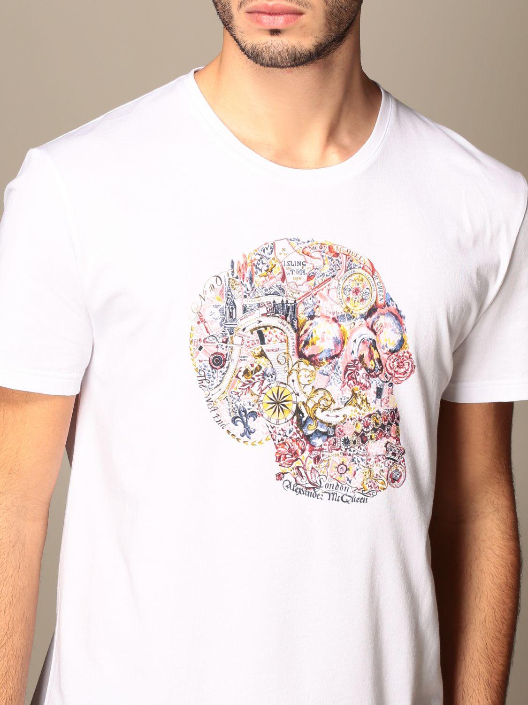 T-shirt Alexander Mcqueen: Alexander Mcqueen cotton t-shirt with skull white 5