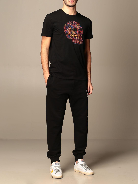 T-shirt Alexander Mcqueen: T-shirt men Alexander Mcqueen black 2