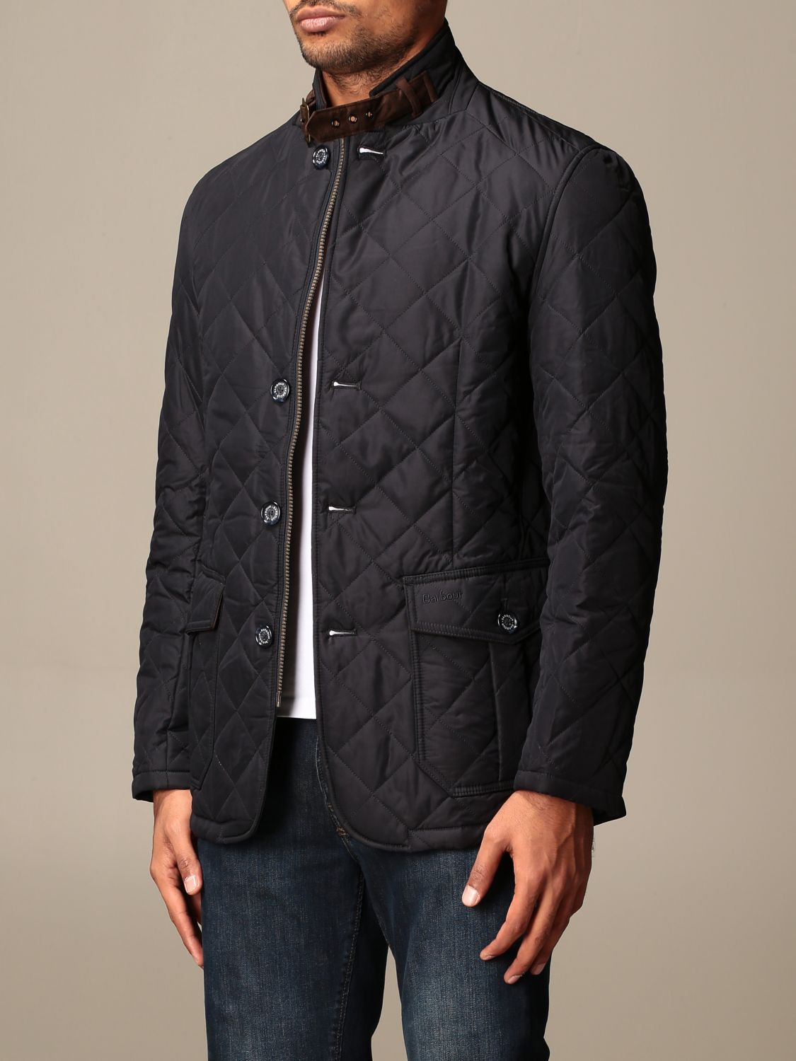 Jacket Barbour: Classic Barbour diamond quilted jacket blue 3